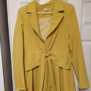 Dress trench coat - Mustard
